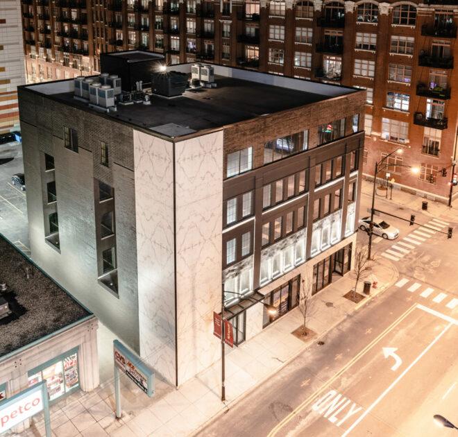 Aura facade Chicago